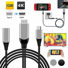6.6ft 4K 1080p Ultra Hd Usb C to Hdmi Cable Adapter for Nintendo Switch Laptop