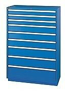 LISTA XSHS1350-0902 - HS1350 9-Drawer Eye-Level Height Cabinet,Shallow Depth