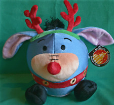 Disney Parks Eeyore Reindeer Round Plush Toy New Disney Pooh Eeyore For All Ages