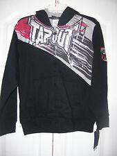 "Boy's ""Tap Out"" Tapout Signature Hoodie/ Jacket Zip-Up (Black) Size Large 18/20"