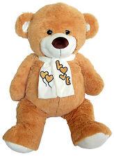 PLÜSCHTIER PLÜSCH BÄR 95 cm braun Teddybär Plüschbär Kuschelbär Stoffbär Teddy