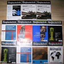 NUOVA tecnica mineraria rivista di Miniere geologia 11 numeri 1977
