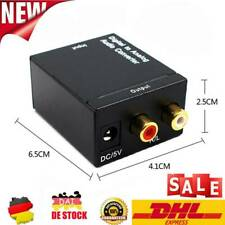 Optical Coaxial Toslink Digital L/R to Analog Audio Converter Adapter RCA Audio.