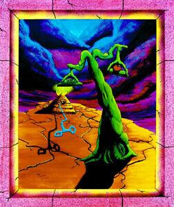 Blacklight Poster UV Trippy Psy  Psychedelic Art  - THE BALANCE