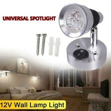 12Volt DC LED Swivel Bedside Reading Lamp Wall Mount RV Boat Interior Light Cool