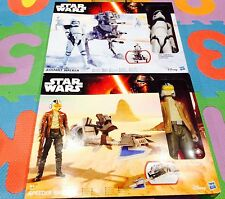 Star Wars-antidisturbios Storm Trooper asalto Walker + Speeder Bike Nuevo Y En Caja Hasbro