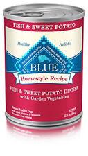 Blue Buffalo  Homestyle  Fish and sweet potato  Cubes  Dog  Food  12.5 oz.