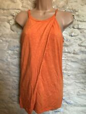 orange longline jersey top with bust support fit  size 10
