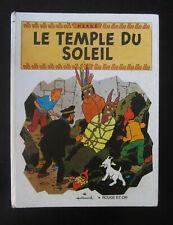 HERGE LE TEMPLE DU SOLEIL COLLECTION ROUGE ET OR HALLMARK