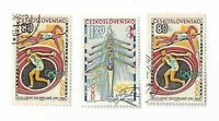 Czechoslovakia postage stamps x 3, 1964 Olympic Games - Tokyo, Japan