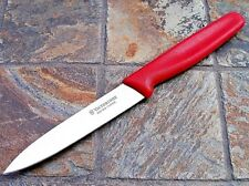 "Victorinox UTILITY / Large Paring Knife 4"" Blade RED Kitchen Cutlery 40502"
