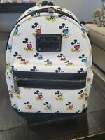 Disney Parks Loungefly Mickey Mouse Multi-Colored Pants Mini Backpack New