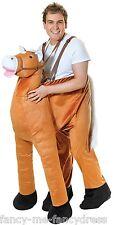 Para Hombre paso en paseo en caballo animal Stag do Festival Vestido de fantasía Traje de Disfraz