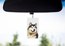 Alaskan Malamute Dog Design Car Mirror Hanging Plaque Sign CPMALA-1 paws2print