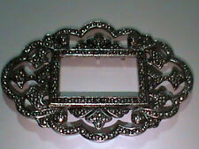 Miriam Haskell Pin Vintage Mint Old Stock Signed Brooch Picture Frame UNIQUE !