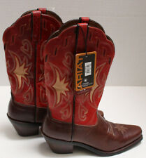 NEW NWT Ariat Ladies Leather Boots Size 6M Decorative Stitching #15501