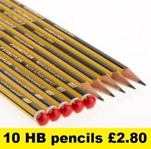 HB Staedtler Noris Pencils Drawing School Art Sketching Joiner Student 10 pack