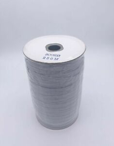 White Flat Elastic 8 Cord 6mm - Full Roll 250m - ideal for face coverings