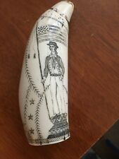 Polymer Scrimshaw Reproduction, beautiful carvings, very good condition