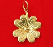 NEW 9ct Yellow Gold Solid Lucky Four Leaf Clover Pendant 375 Charm 9KT 9K