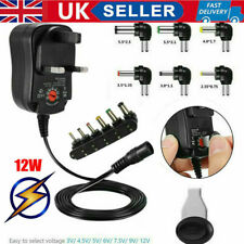 UK 3V 4.5V 5V 6V 7.5V 9V 12V Universal Mains AC/DC Power Supply Adapter Charger