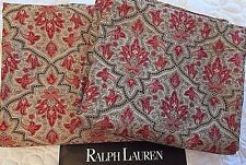 """Ralph Lauren 2 Italy Curtain Panels 83"""" long x 80"""" Lined Drapes Brown Multicolor"""