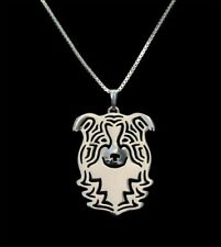 Border Collie Silver Charm Pendant Necklace, Dog Lover, Friend Gift