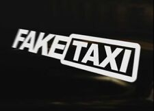 FAKE TAXI 4x4 Caravan Bumper Sticker Window Laptop Wall Graphic Sign
