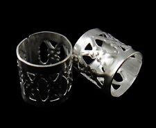 50 Banderkappen 8mm Silber Fligran Metallkappen Schmuck Basteln BEST  F203