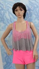 O'RAGEOUS pink racer back tankini top, boy shorts and cover up tank top,jr XL
