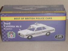 BEST OF BRITISH POLICE CARS, FORD CORTINA MK2 HAMPSHIRE VANGUARD CASTINGS .JA08