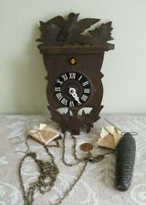 Vintage Small Cuckoo Clock Germany Pine Cone Weight for Parts