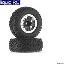 Traxxas 5890 Slash 2wd Front Tires/ Black Wheels Assembled Glued Split Spoke