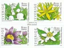 Sweden 2459BA-2462BA (complete.issue.) fine used / cancelled 2005 Flowers