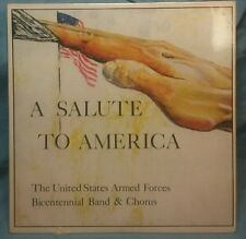 """A Salute To America"" LP by the United States Armed Forces Bicentennial band"