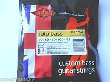 Rotosound RB40-5 5 String Bass Guitar Strings - Nickel Roundwound  Medium Gauge