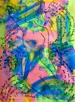 sensuelle femme tableau art abstrait art contemporain 60 x 80 cm  street art