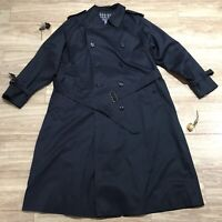 Burberry's Trench Coat Nova Check made in angland unisex blue navy size 3XL/4XL