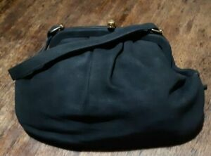 Black, French Suede 1960's handbag, by 'Jack Eaton' of N.S.W