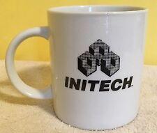 Office Space movie / Bill Lumbergh / Coffee Mug - INITECH - BLACK LOGO - EUC!!