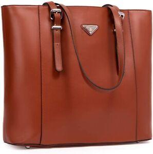 BOSTANTEN Women's Leather Handbags Large Shopper 15 Inch Laptop Bag Shoulder Bag