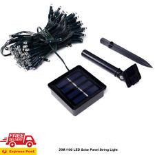 12M LED Christmas Wedding Party String Fairy Light Lamp Solar Panel Express POST