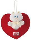Trudi 52109 Sweet Collection Cat with Heart 9 cm Hanging Doll