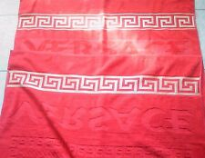 Beach Towel Versace,Large Size 100X170sm Red  color ,soft cotton-New
