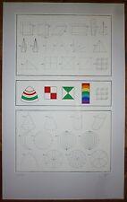 Del Pezzo Lucio sérigraphie originale signée art abstrait Mathématique abstract