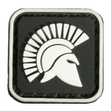2.5X2.5cm Square Mini Molon Labe King Of Sparta Glow Tactical Army PVC Patch Bra