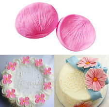 3D Flower Petal Fondant Cake Mould Silicone Sugarcraft Baking Mold Tools 2Pcs
