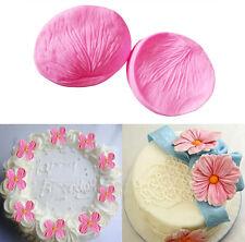 Rose Flower Petal Fondant Cake Mould Silicone Sugarcraft Baking Mold 2Pcs