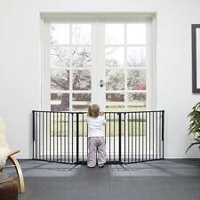BabyDan Configure Barrière de Sécurité, Noir, Grand 72cm - 223cm