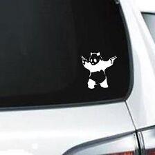 A256 Panda With Guns  wall truck laptop vinyl car sticker